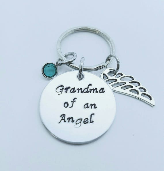 Grandma of an Angel  Personalized Baby loss keepsake Keychain Child loss Gift Miscarriage Gift Mimi of an Angel Nana Personalized Memorial