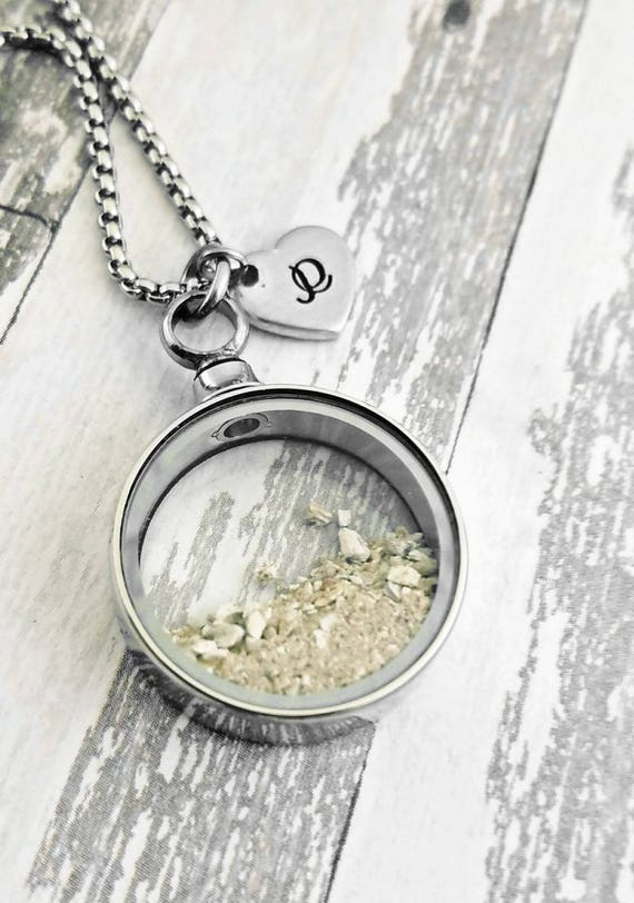 Memorial Ash Stainless Steel Pendant NecklaceCremation PendantPet Memorial JewelryMore than 90 Color Options15mm