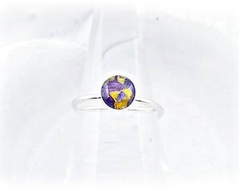 Wedding Flower Ring - Flower Memorial Ring - Wedding Flower Preservation - Preserved Flower Jewelry - Memorial Flower Jewelry - Floral Ring