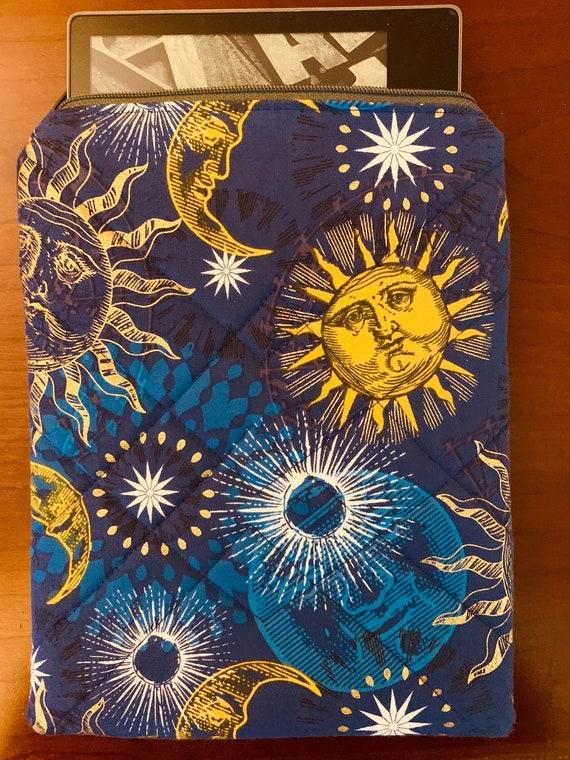 "Metallic Sun & Moons 8"" Tablet Padded Zipper Bag (iPad Mini, Kindle, etc.)"