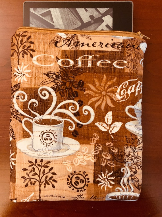 "Coffee Time! 8"" Tablet Padded Zipper Bag (iPad Mini, Kindle, etc.)"