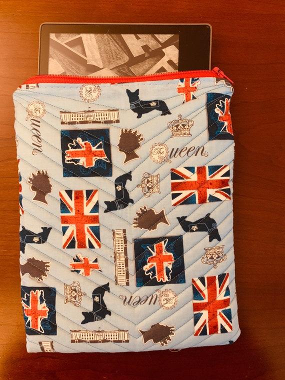 "British 8"" Tablet Padded Zipper Bag (iPad Mini, Kindle, etc.)"