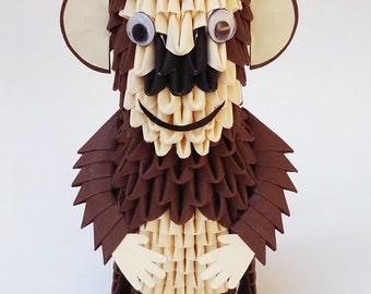 3d Origami Monkey Paper Year Of The Handmade Modular