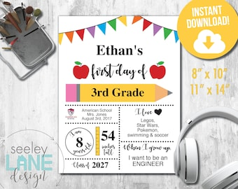Child S First Day Etsy