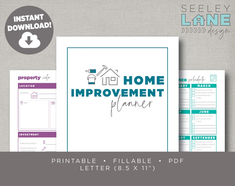 Home Improvement Maintenance and Garden Planner Printable image 0