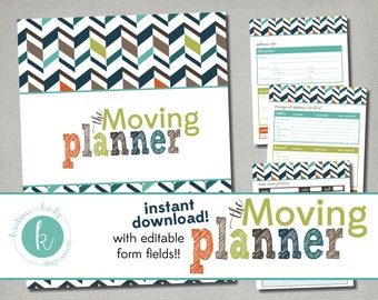 Printable Moving and House Hunting Planner with Editable Fields, Instant Digital Download