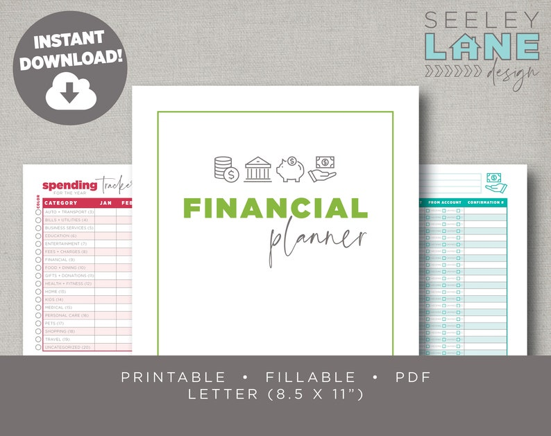 Financial Budget and Bill Planner with Form Fields image 0