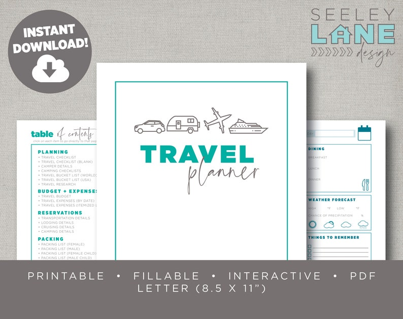 Travel / Trip / Vacation / Camping / RV / Cruising Planner image 0