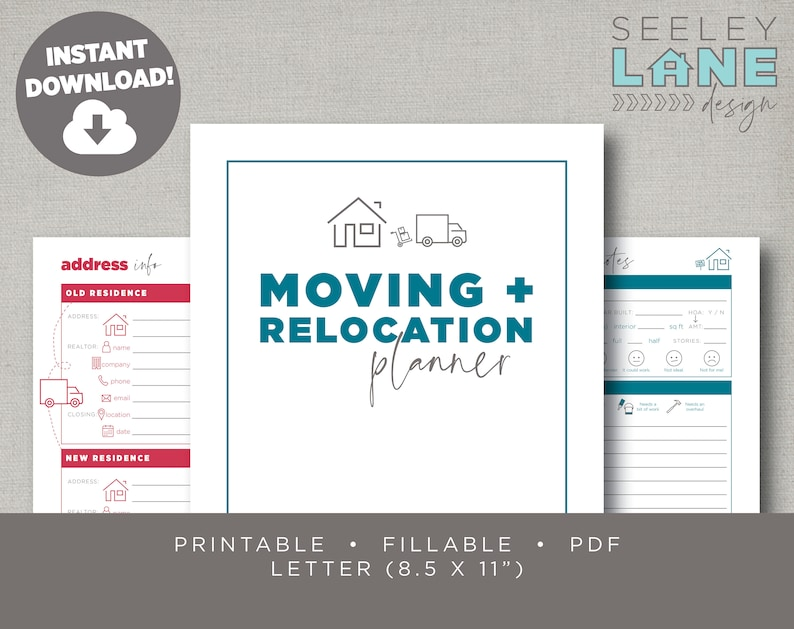 Moving or Relocation and House Hunting Planner Printable image 0