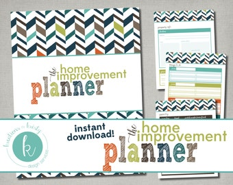 Printable Home Improvement Planner, Instant Digital Download