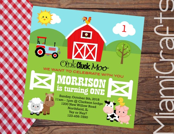 farm invitations barnyard birthday invitations cow print etsy