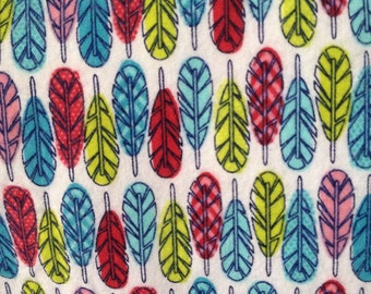 Pack and Play Sheet - Colorful Feathers