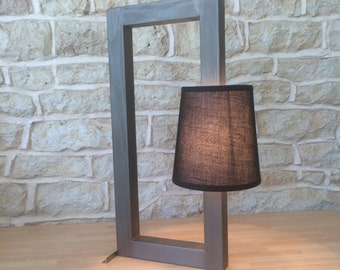 bedside lamp, bedside light, reading lamp, reading light, night light, metallic lamp, grey lamp, gray lamp, modern lamp, contemporary lamp