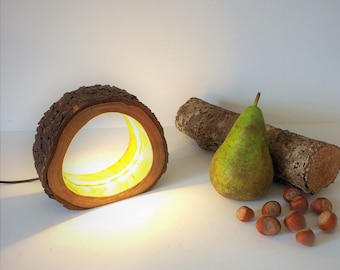 Hollow Led Log Lamp