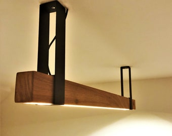 Wood and Metal Light Fixture