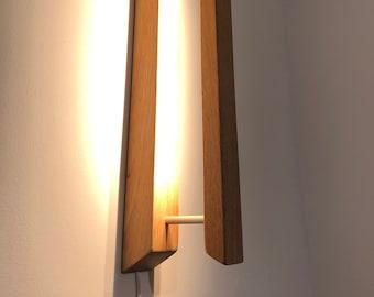 Sleek Wood and Aluminium Led Wall Light