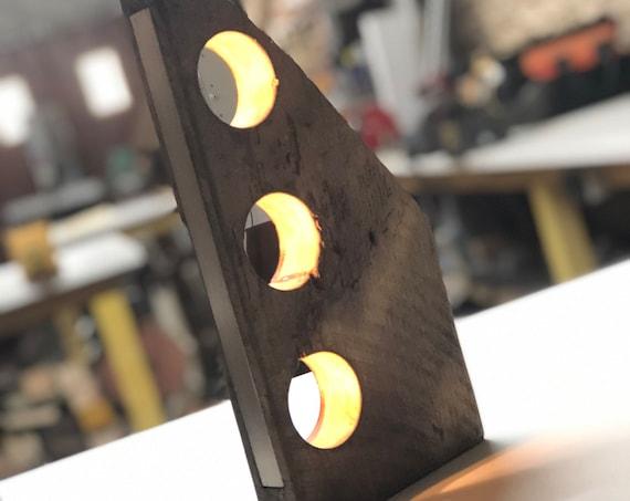 wood lamp, rustic lamp, table lamp, desk lamp, rustic wood, rustic table lamp, old lamp, reclaimed wood,