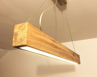 Solid Oak Beam Light