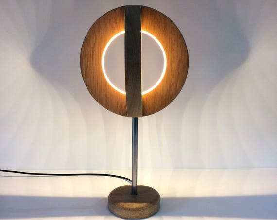 Wooden Led Table lamp Desk Lamp Modern Light Round Circular Wooden Sphere Minimalist Designer lamp