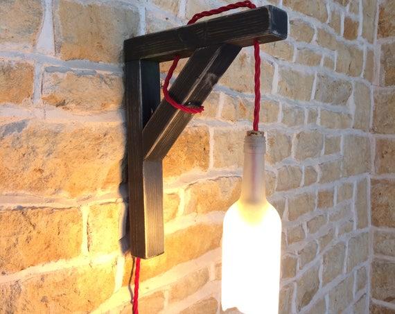 wall light, wall sconce, hanging bottle, hanging wall light, wall fixture, wine bottle light, wall lamp, bottle lamp,