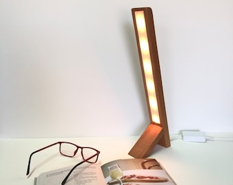 contemporary hue lamp, bedside hue lamp, hue reading lamp, philips hue lamp, hue desk lamp, hue wooden lamp, handmade hue lamp, hue leds,