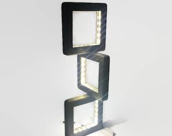 LED desk lamp, modern light fixture, office desk accessories, college dorm boy, retirement gift for man, wood table lamp unique wedding gift