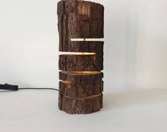 Led Log Lamp With Slits