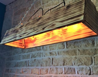dinner table light, dining table light, wood light fixture, wooden light fixture, rustic light fixture, rustic ceiling light, bar light