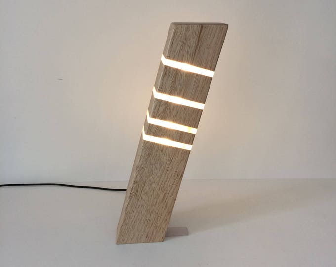 Featured listing image: Modern Table Lamp Contemporary Lighting Wooden Sleek Stylish Lamp Home Office Lamp