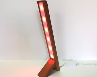 Philips Hue Wooden Angled Desk Lamp