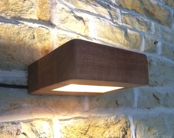 Minimalist Solid Wood Wall Light Sconce