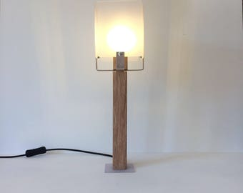 Modern Wood and Plastic Table Lamp
