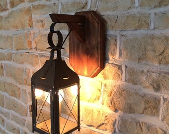 Genuine Antique Lantern Wall Light/Sconce