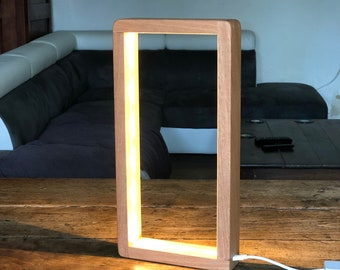 Open Rectangle Philips Hue Led Table Lamp