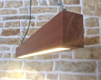 wooden beam light, wooden light fixture, beam light, modern light, table lighting, light pendant, contemporary lighting, led light