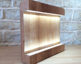 Bold Solid Wood Led Lamp
