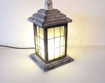 wooden lantern, lantern , rustic lamp, handmade lamp, unusual gift, housewarming gift, wedding gift, home lighting, christmas lantern