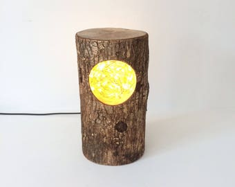 Rustic Log 'Nest' Led Lamp