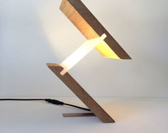 Modern Wood & Plastic Table Lamp