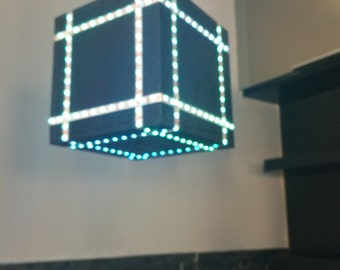 Colour Changing Color Changing Cube Light Modern Ceiling Light Pendant Light