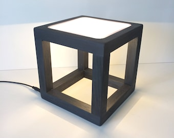 modern table lamp, modern desk lamp, minimalist lamp, modern decor, office furnishings, led lamp, cube lamp, contemporary lamp, wedding gift