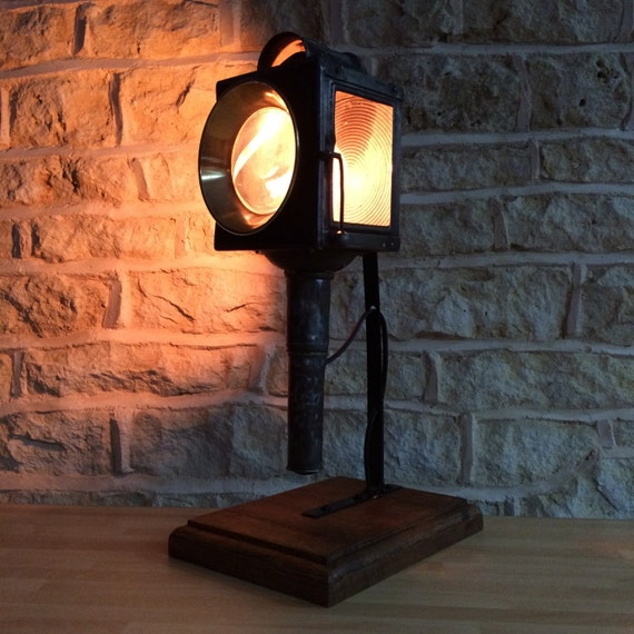 Vintage Table Desk Lamp Antique Rustic Office Library Study French Coach Carriage Lantern