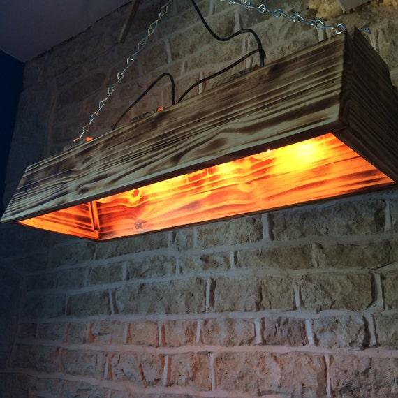 pool table light, wooden chandelier, wooden pendant light, housewarming gift, dining table light, burnt wood, pendant light