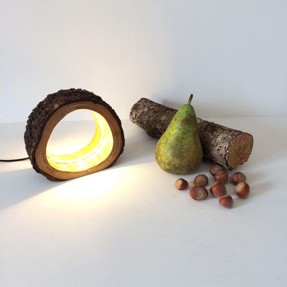 log lamp, log light, led log lamp, led log light, rustic lamp, rustic light