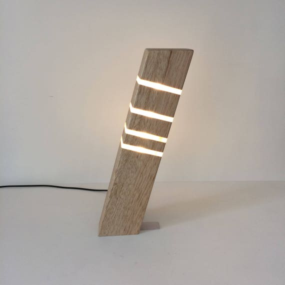 Modern Table Lamp Contemporary Lighting Wooden Sleek Stylish Lamp Home Office Lamp