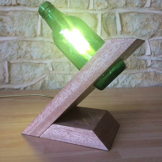 Beer Bottle Lamp Modern Lamp Contemporary Lamp Handmade Lamp Table Lamp