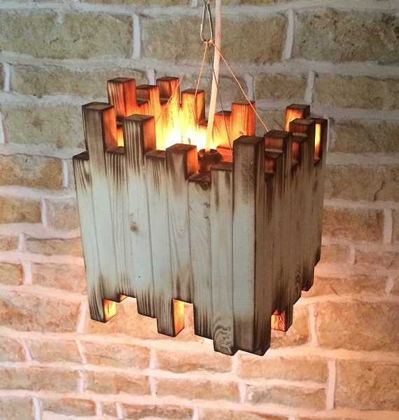 Wood Light Fixture Rustic Ceiling Light Rustic Light Unusual