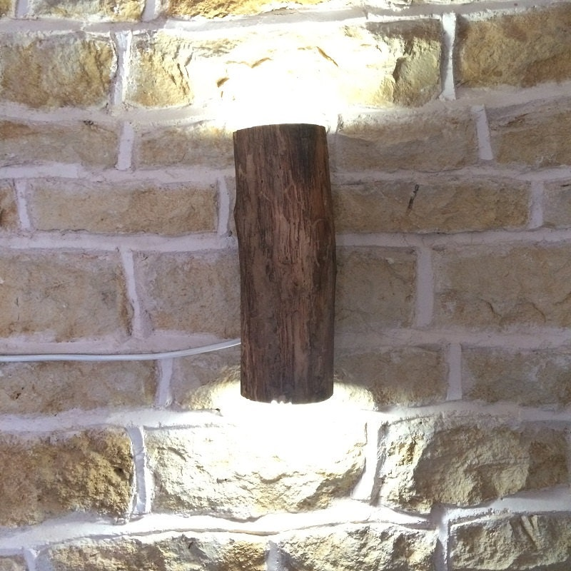 Rustic wall light rustic sconce woodland style log lamp log rustic wall light rustic sconce woodland style log lamp log light wooden wall light wall sconce farmhouse cottage light aloadofball Gallery