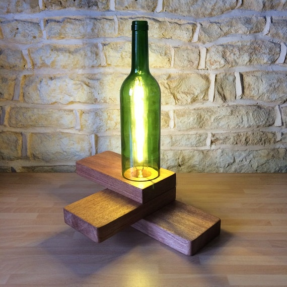bottle lamp, bottle light, wine lover gift, gift for wine lover, wine lovers gift, unique lamp, wine bottle lamp, wine bottle gift