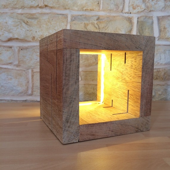 table lamp, desk lamp, modern light, cube light, cube lamp, unusual lamp. office gift, desk gift